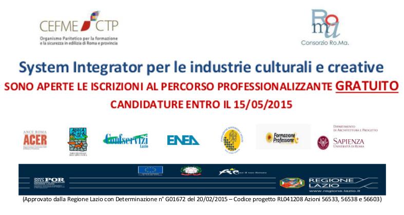 System Integrator per le industrie culturali e creative – corso professionale gratuito