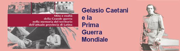 GELASIO CAETANI E LA PRIMA GUERRA MONDIALE