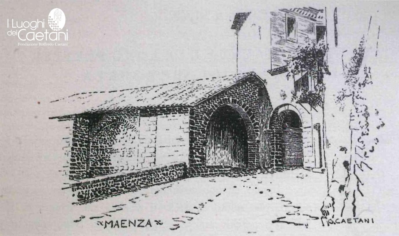 "I disegni di Gelasio Caetani sul ""castrum"" di Maenza"